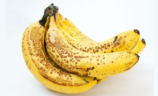 Yellow Banana with Dark Patches