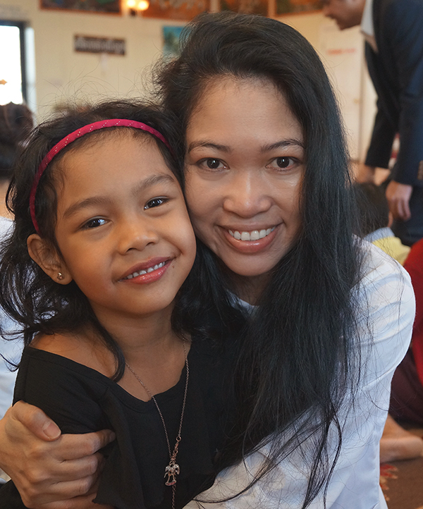 Jendhamuni and Scarlett at Dad's memorial service  - April 11, 2015.